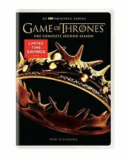 Game of Thrones: The Complete Second Season (DVD, 5-Disc Set, 2016) NEW