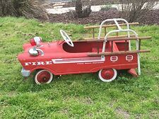 Fire Truck Pedal Car, Full Ball Bearing, circa 1968. Complete.Original Paint
