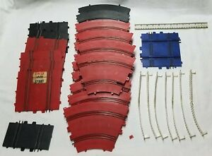 Vintage UNGAR and ELDON Plastic Slot Car Race Track -- 29 Pieces