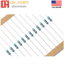 100PCS 1Ohm Resistance 1/4W 0.25Watt 1Ω Resistors Metal Film Resistor ±1% USA