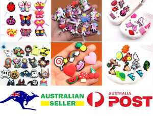 AU STOCK 50 Pieces Set Shoe Charms Fits Shoes Slippers Wristbands