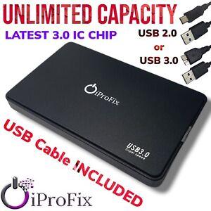 "USB 3.0 / 2.0 SATA External Hard Drive Caddy Case Slim 2.5"" HDD & SSD Enclosure"