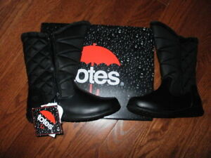 Totes Boots Jill 10 Wide Black New With Tags Waterproof Winter Thermolite
