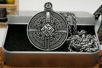 Anhänger Schwarze Sonne incl. Kette Kette Odin Mjolnir Thor Amulet Nordic V5