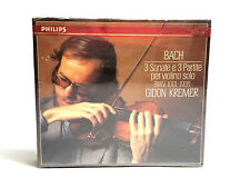 Bach 3 Sonate e 3 Partite Per Violino Solo GIDON KREMER 2CD Set Philips SEALED