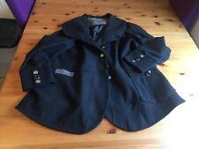Joe Browns Size 20 Black Wool Mix Coat Red Grey Trim Sacred Spirit