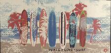 Nwt Body Glove Xl Plush Peace Love Surf Beach Towel 100% Cotton 36�x70�