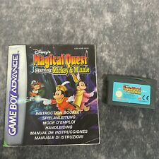 Disney's Magical Quest Starring Mickey & Minnie Game Boy Advance Cart + Manual