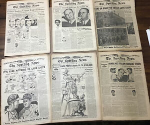 9 1943 THE SPORTING NEWS BASEBALL NEWSPAPER MAGAZINES LOT Chesterfield Babe Ruth