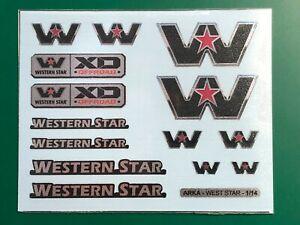 TAMIYA 1/14 WESTERN STAR -  stickers logos mudflaps set KING KNIGHT HAULER