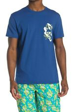 Psycho Bunny Men's Crew Neck Graphic Logo T-Shirt, Prussian Blue, Choose Size