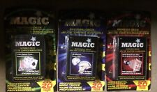 Lot Of 3 Sets Magic Playing Cards Tricks: Tapered Svengali & Marked Deck