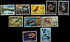 1967 Ghana SG445/454 New Currency overprint set fine used Cat £80