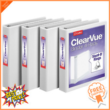 Cardinal 15 Inch 3 Ring Binder D Ring White 4 Pack Holds 375 Sheets 29400