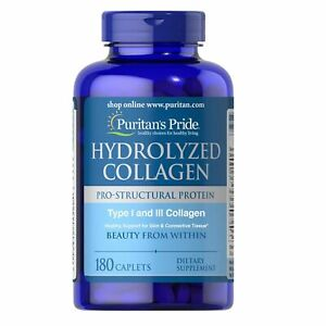 Puritan's Pride 4000 mg Hydrolyzed Collagen 180 Caplets HALLOWEEN
