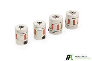 CNC Wellenkupplung / Klauenkupplung [5 bis 7 Nm] [Wellendurchmesser 5 bis 15mm]