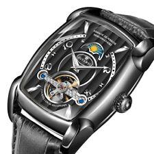 Tourbillon Automatic Mechanical Men's Watch Creative Square Skeleton Design Dial