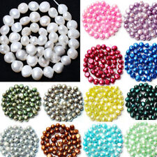 8-9mm Natural Freshwater Pearl Free form Shape Gems Loose Beads Strand 15""