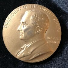 Harry S Truman 1st Presidential Inauguration Medal Bronze by James Sinnock