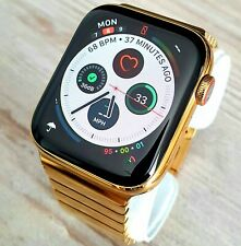24k Gold Plated Apple Watch Series 4 Smart Watch Milanese Wristband GPS Cellular