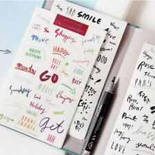 8Sheets Simple Paper Stickers For Diary Notebook Mobile Bullet Journa Phone F6X5