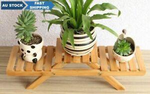 Small bamboo flower stand bamboo shelf organizer desk shelf desk plant stand