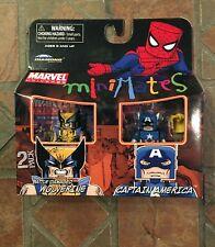 Marvel Minimates CAPTAIN AMERICA & BATTLE DAMAGED WOLVERINE TRU Exclusive Wave 6
