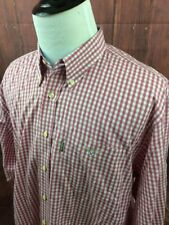 Barbour Dress Shirt Men's Plaid Pink Size XL  A161