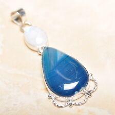 "Handmade Botswana Agate Onyx Jasper 925 Sterling Silver Pendant 2.75"" #P14438"