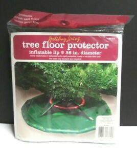 """Christmas Tree Green Floor Protector Inflatable Lip Sturdy Construction 36"""" New"""