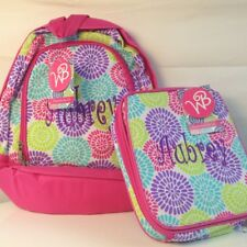 aBaby Bloom Preschool Backpack and Lunch Bag Combo, Pink, Name Aubrey