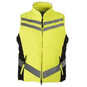 Equisafety Hi-Viz Quilted Gilet Yellow XXL (approx 16-18)
