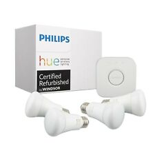 Philips Hue White Ambiance 3rd Generation A19 Dimmable LED Smart 4-Bulb Starter