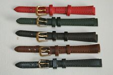 10mm Ladies Watch Strap Genuine Leather Calf Grain. Choice of Colours