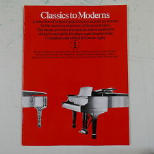 piano solo CLASSICS TO MODERNS 1 , agay