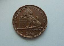 Bélgica, 2 céntimos 1911, en gran condición.