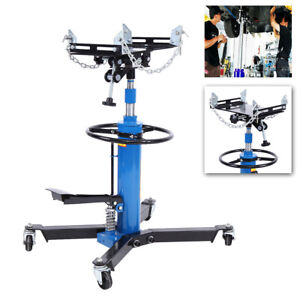 Professional Hydraulic Transmission Jack 1100 lbs/0.5 Ton 2 Stage for Car Lift