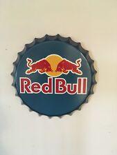 Red Bull Tin Bottle Cap Sign