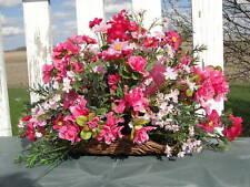 Sweetest Day Party Silk Flower Centerpiece Pink Silk Arrangement Breast Cancer