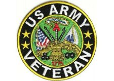 """(C55) United States ARMY VETERAN 3"""" iron on patch (2411) Military Biker"""