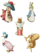 25 Wallies Beatrix Potter Peter Bunny Rabbit Characters Wall Stickers Decals