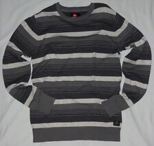 ~~NEW~~ MENS QUIKSILVER ACTUALIZER PULLOVER SWEATER SMOKE SIZE SMALL