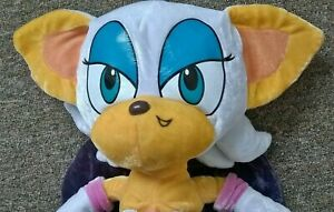 """Rouge The Bat Plush 17"""" Floppee Soft Toy Network Sonic X The Hedgehog Project"""