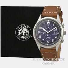 Authentic Citizen Eco-Drive Men's Classic Chandler Brown Strap Watch CA0621-05L