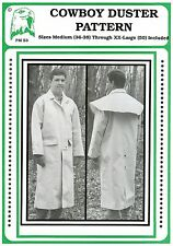 Cowboy Duster - Old West Coat - Men's Sizes M-XXL Eagle's View Sewing Pattern 53