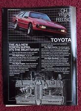 1982 Print Ad Toyota Celica Supra Car Automobile ~ It's The Right Stuff