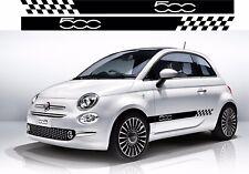 Fiat 500 lado Racing Rayas Pegatinas, calcomanías, Gráficos. * Cualquier Color