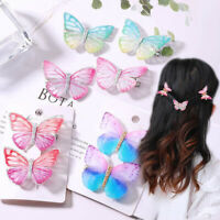 Girls Colorful Cartoon Butterfly Hair Pins Clips Barrette Hairpin Accessories