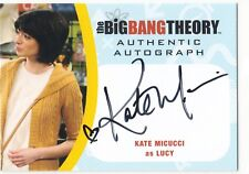 2016 Cryptozoic Big Bang Theory Autograph Auto #KM2 Kate Micucci as Lucy