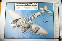 Heinkel 111 Lufthansa Poster 74,7 x 109,5 cm Plakat Vintage 30er - 50er Werbung